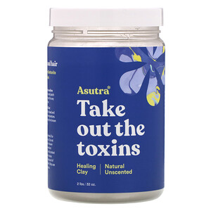 Asutra, Take Out The Toxins, Healing Clay, Natural Unscented, 32 oz отзывы