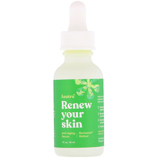 Asutra, Renew Your Skin, Anti-Aging Serum, Rovisome Retinol, 1 fl oz (30 ml)