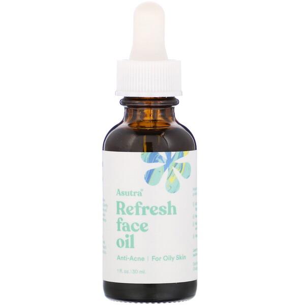 Asutra, Refresh Face Oil, 1 fl oz (30 ml)