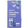 Asutra, You Sleep Routine On The Go, Travel Set, 4 Piece Set