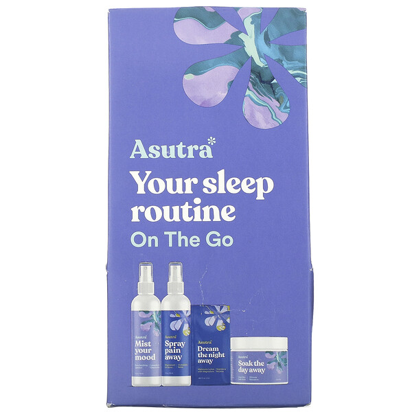 You Sleep Routine On The Go, Travel Set, 4 Piece Set