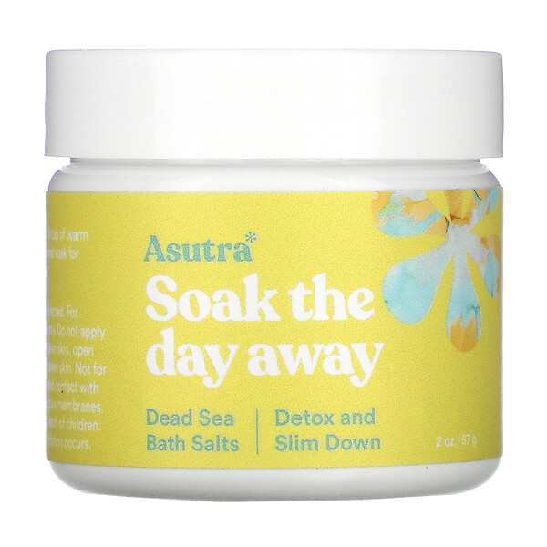Soak The Day Away, Dead Sea Bath Salts, Detox and Slim Down, 2 oz (57 g)