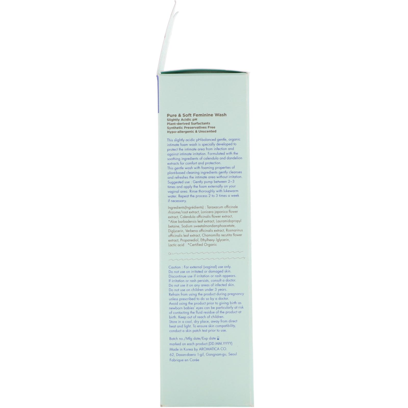 Aromatica Pure Soft Feminine Wash 5 7 Fl Oz 170 Ml Iherb