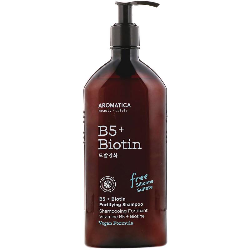 Aromatica, B5 + Biotin, Fortifying Shampoo, 13.5 fl oz (400 ml)