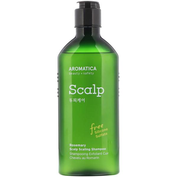 品牌從A - ZAromatica類別沐浴露及個人護理護髮韓妝頭髮護理類別沐浴露及個人護理護髮洗髮精:Aromatica, Rosemary Scalp Scaling Shampoo, 8、4 fl oz (250 ml)