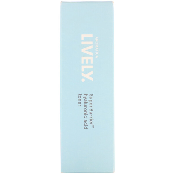 品牌從A - ZAromatica類別美容清洗,色調& 去角質韓妝潔面乳、爽膚水和磨砂膏類別美容清洗,色調& 去角質化妝水:Aromatica, Lively, SuperBarrier, Hyaluronic Acid Toner, 6、8 fl oz (200 ml)