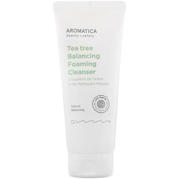 Aromatica, Tea Tree Balancing Foaming Cleanser, 6.3 oz (180 g)
