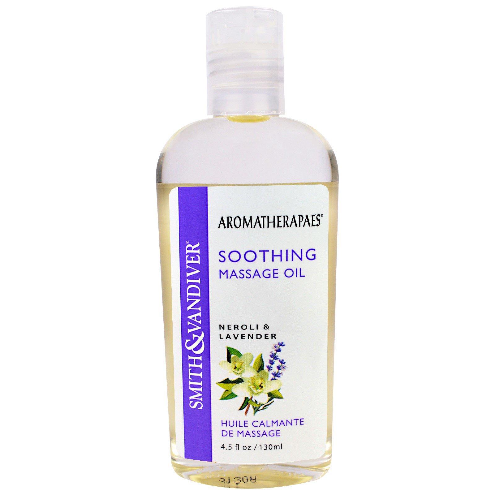 Smith & Vandiver, Расслабляющее массажное масло с ароматом неролиевого масла и лаванды, 4,5 жидкой унции (130 мл)