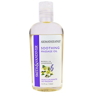 Smith & Vandiver, Soothing Massage Oil, Neroli & Lavender, 4.5 fl oz (130 ml)