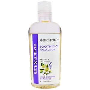 Смит и Вандивер, Soothing Massage Oil, Neroli & Lavender, 4.5 fl oz (130 ml) отзывы