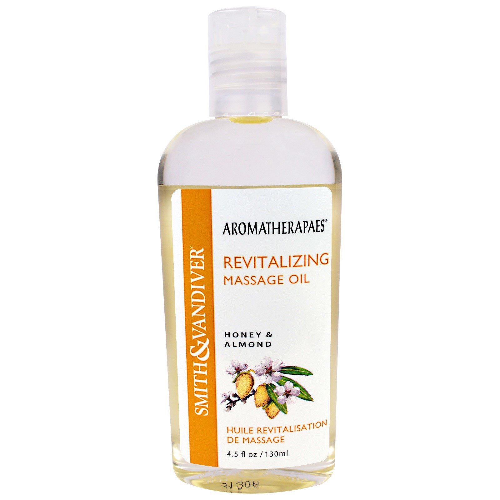 Smith & Vandiver, Тонизирующее массажное масло с ароматом меда и миндаля, 4,5 жидкой унции (130 мл)