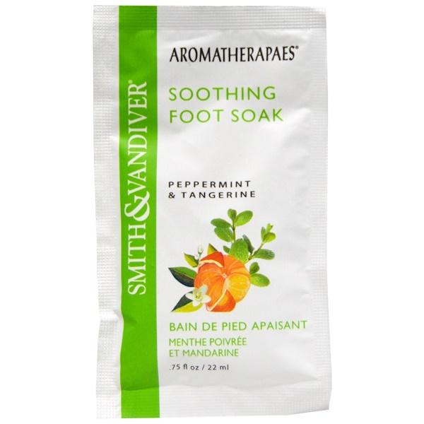 Smith & Vandiver, Smith & Vandiver, Soothing Foot Soak, Peppermint & Tangerine, .75 fl oz (22 ml)