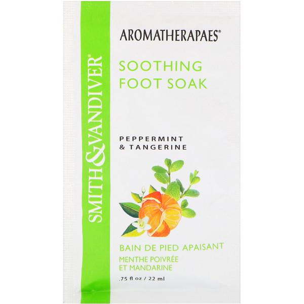 Smith & Vandiver, Soothing Foot Soak, Peppermint & Tangerine, .75 fl oz (22 ml)