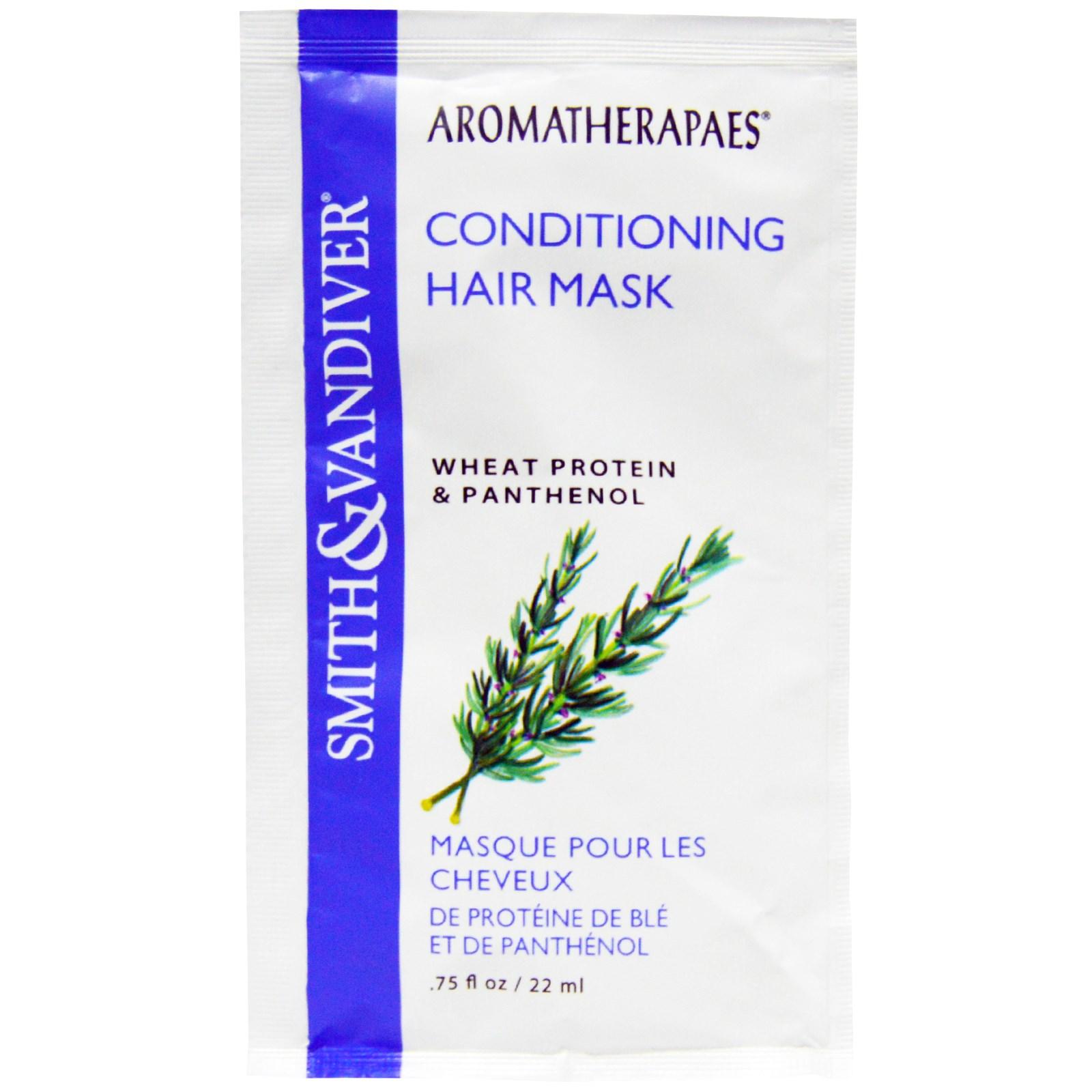 Smith & Vandiver, Маска для волос, кондиционер, пшеничный протеин и пантенол, 0,75 жидких унций (22 мл)