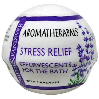 Smith & Vandiver, Effervescents For The Bath, Stress Relief, 2.8 oz (80 g)