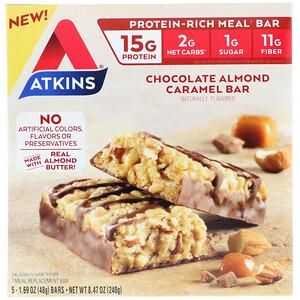 Акткинс, Meal Bar, Chocolate Almond Caramel Bar, 5 Bars, 1.69 oz (48 g) Each отзывы покупателей