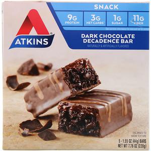 Акткинс, Snack, Dark Chocolate Decadence Bar, 5 Bars, 1.6 oz (44 g) Per Bar отзывы
