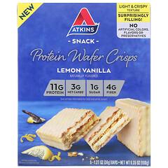 Atkins, 蛋白質脆片,檸檬香草味,5 根,每根 1.27 盎司(36 克)