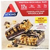 Atkins, Barra de Cereal com Gotas de Chocolate, 5 Barras, 1,69 oz (48 g) Cada