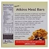 Atkins, Meal、Chocolate Chip Granola Bar、5本、各1.7 oz (48 g)