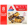 Atkins, Meal Bar, Chocolate Chip Granola Bar, 8 Bars, 1.69 oz (48 g) Each