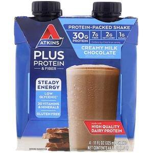 Акткинс, Plus Protein & Fiber, Creamy Milk Chocolate, 4 Shakes, 11 fl oz (325 ml) Each отзывы