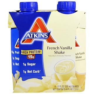 Atkins, French Vanilla Shake, 4 Shakes, 11 fl oz (325 ml) Each