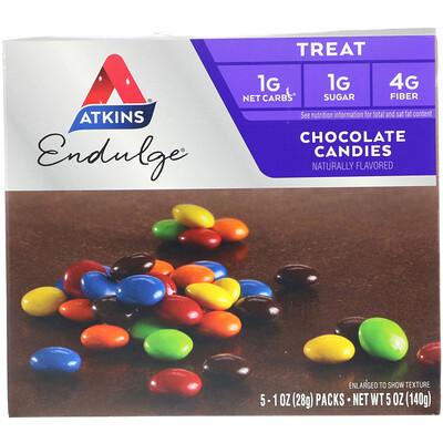 Treat Endulge, шоколадные конфеты, 5 упаковок, весом 28 г (1 унция) каждая