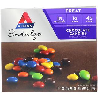 Atkins, トリートエンダルジ(Treat Endulge), チョコレートキャンディ, 5パック, 各1オンス (28 g)