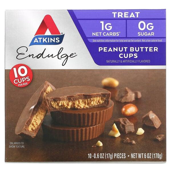 Atkins, Endulge, Peanut Butter Cups, 10 Packs, 0.6 oz (17 g) Each