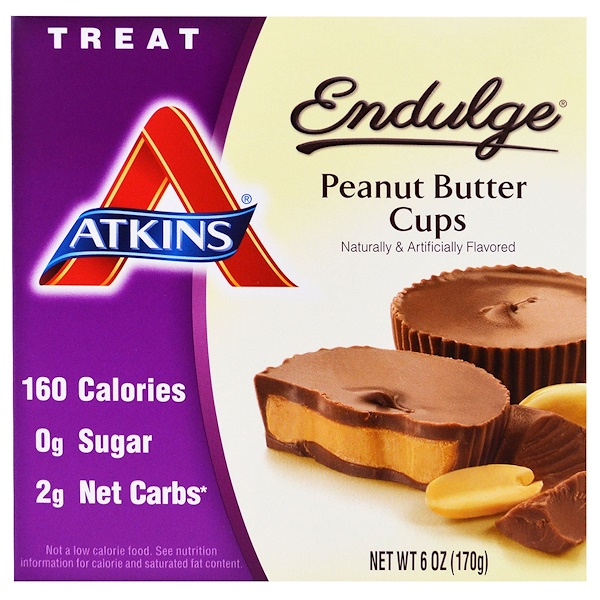 Atkins, Endulge, Peanut Butter Cups, 5 Packs, 1.2 oz (34 g) Each