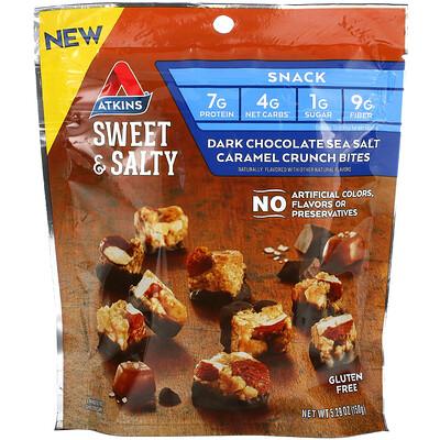 Купить Atkins Sweet & Salty, хрустящие снеки с черным шоколадом, карамелью и морской солью, 150г (5, 29унций)