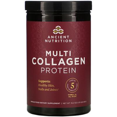 Купить Dr. Axe / Ancient Nutrition протеин с коллагеном нескольких типов, 459г (1, 01фунта)
