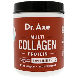 Dr. Axe / Ancient Nutrition, Multi Collagen Protein Powder, 1 lb (454 g)