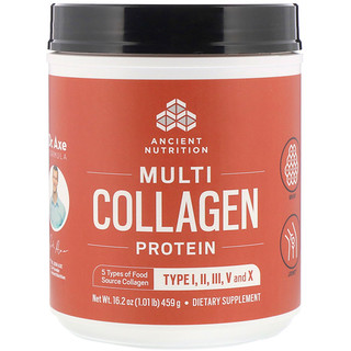 Dr. Axe / Ancient Nutrition, Multi Collagen Protein Powder, 1.01 lb (459 g)