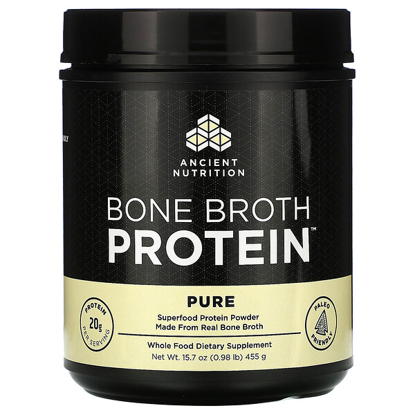 Bone Broth Protein, Pure, 0.98 lb (455 g)
