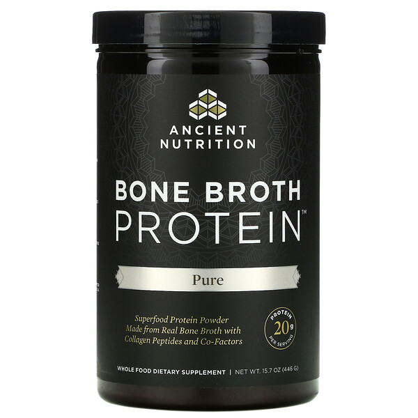 Bone Broth Protein, Pure, 15.7 oz. (446 g)