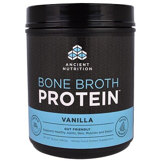Dr. Axe / Ancient Nutrition, Bone Broth Protein, Vanilla, 16.2 oz (460 g)