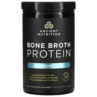 Dr. Axe / Ancient Nutrition, Bone Broth Protein, Vanilla, 17.4 oz (492 g)