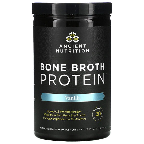 Bone Broth Protein, Vanilla, 17.4 oz (492 g)