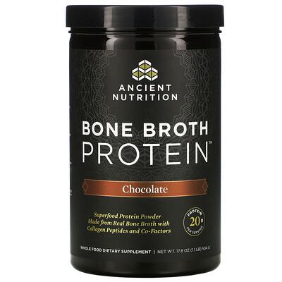 Купить Dr. Axe / Ancient Nutrition протеин из костного бульона, со вкусом шоколада, 504г (17, 8унции)