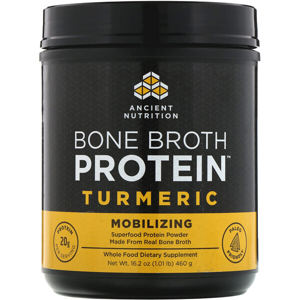 Bone Broth Protein, Turmeric, 1.01 lb (460 g)