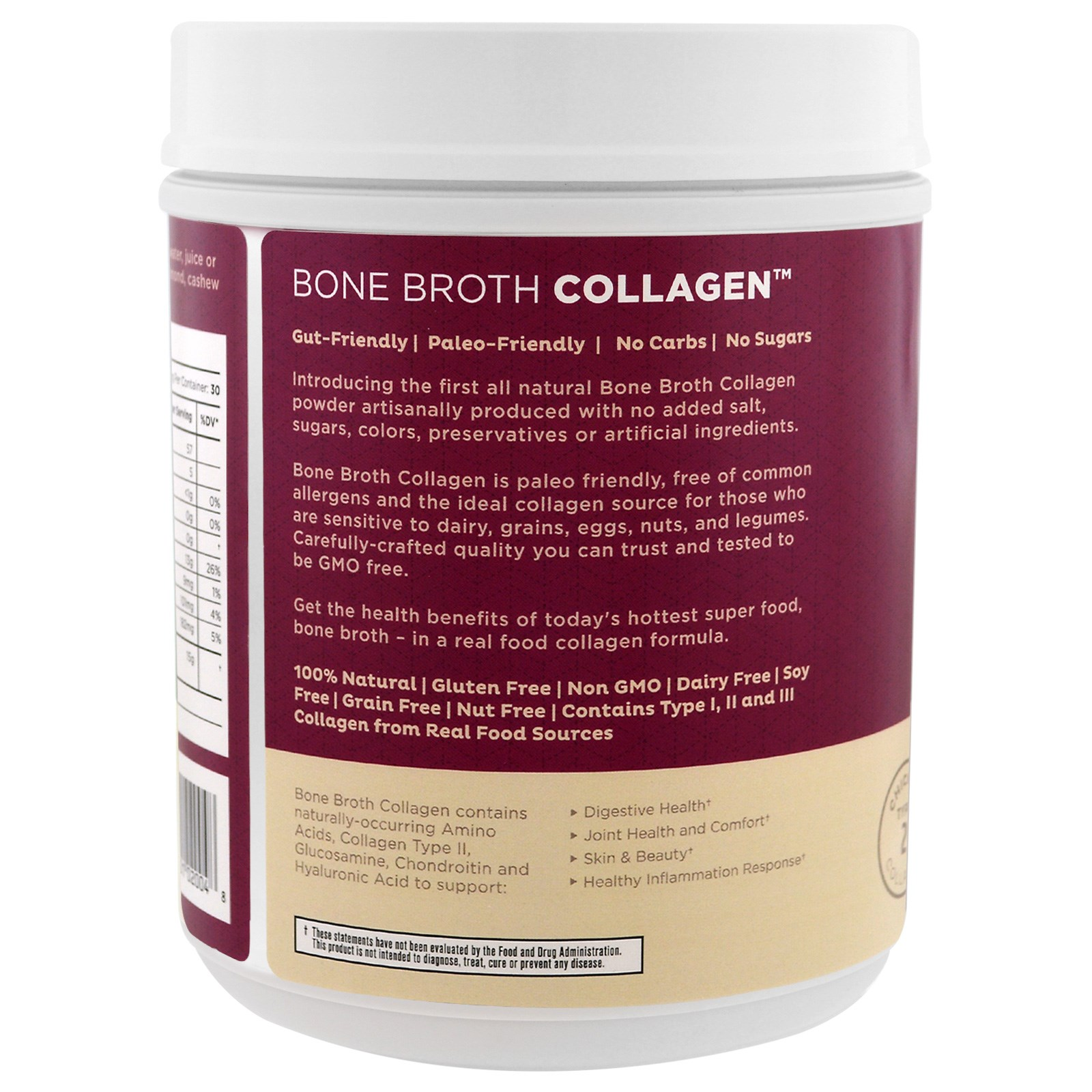 Dr axe ancient nutrition bone broth collagen pure 15 for Dr axe fish oil
