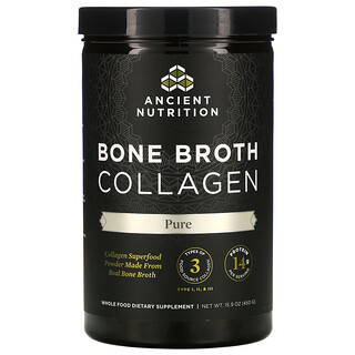 Dr. Axe / Ancient Nutrition, Bone Broth Collagen, Puro, 450 g (15,9 oz)
