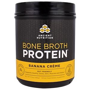 Dr. Axe / Ancient Nutrition, Bone Broth Protein, Banana Creme, 17.3 oz (490 g) отзывы