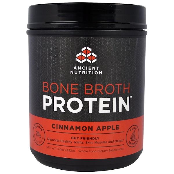 Dr、 Axe  Ancient Nutrition, 骨肉蛋白,肉桂蘋果,17、4盎司(492克)