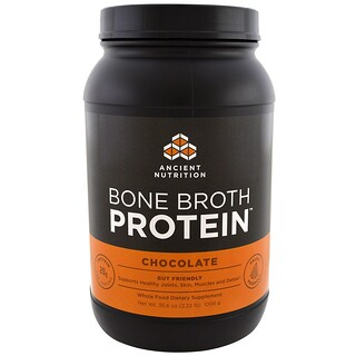 Dr. Axe / Ancient Nutrition, Protéine de bouillon d'os, chocolat, 1 008 g (35,6 oz)