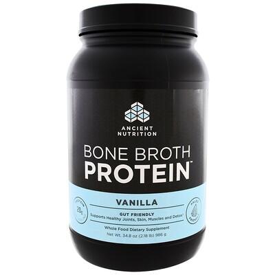 Фото - Bone Broth Protein, белок со вкусом ванили, 986 г (2,17 фунта) n o xplode legendary pre workout со вкусом фруктового пунша 555 г 1 22 фунта