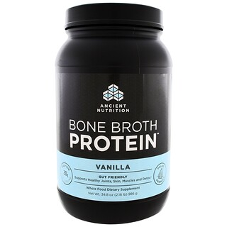Dr. Axe / Ancient Nutrition, Bone Broth Protein, Vainilla, 34.8 oz (986 g)