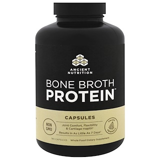 Dr. Axe / Ancient Nutrition, Bone Broth Protein, 180 Capsules